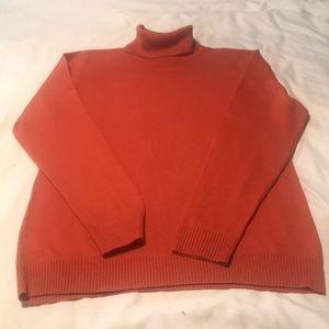 Relativity coral turtleneck sweater